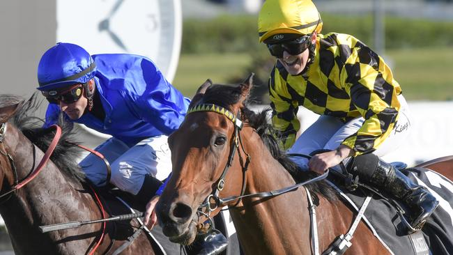 Rachel King rode Maid Of Heaven to victory in last year's Spring Champion Stakes. Picture: Simon Bullard