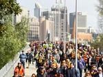 Fans arrive for the 2017 AFL Grand Final match between the Adelaide Crows and the Richmond Tigers at the MCG. Picture: Quinn Rooney/Getty Images