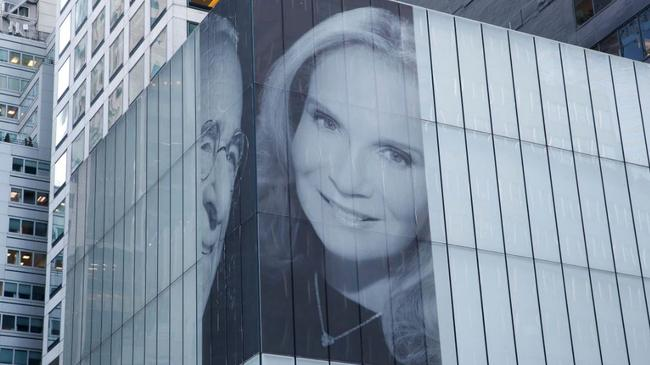 Harry Macklowe and Patricia Landeau's mid-town NYC mural. Picture: Tamara Beckwith/NY Post