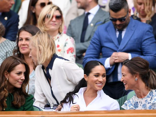 It is thought that Catherine, Duchess of Cambridge (L) and Pippa Middleton (R) lost their pregnancy weight naturally. Picture: AFP