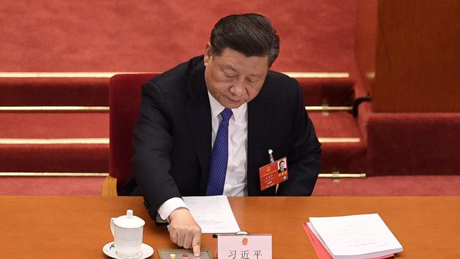 Chinese President Xi Jinping. There have been tensions between Australia and China for months. Picture: AFP
