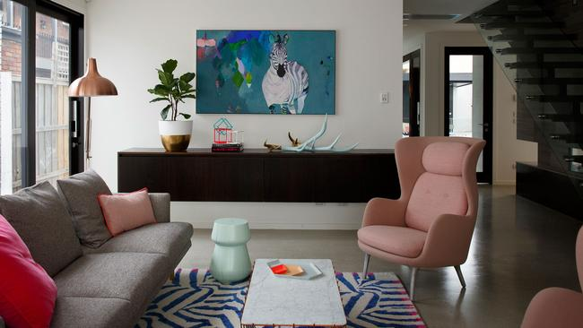 The 'good front room' of Rebecca and Chris Judd's house. Photo: Marcel Aucar