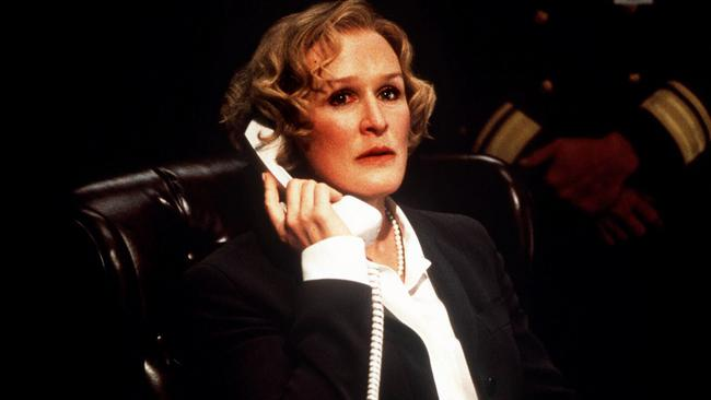 Glenn Close as the VP in Air Force One.
