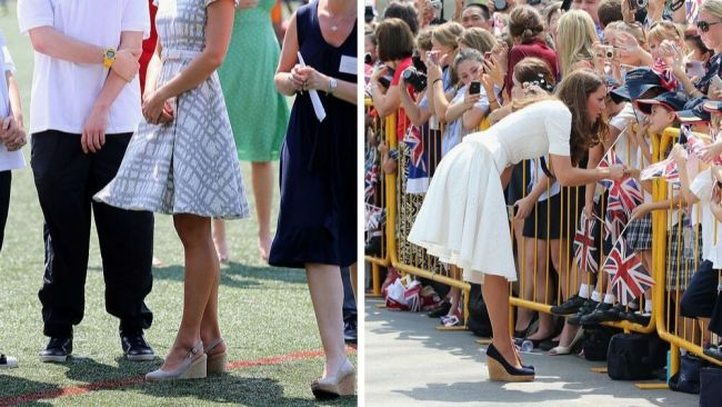 Kate has always loved a cheeky wedge. Image: Getty
