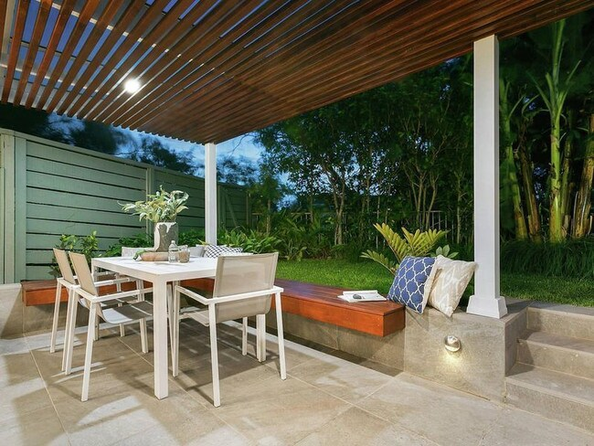 The rear courtyard is a great place to entertain.