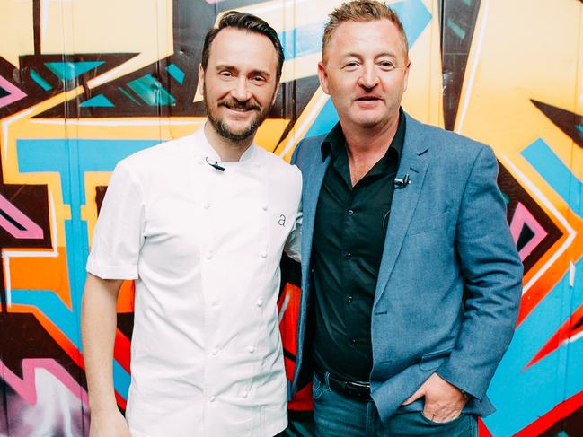 British chef Jason Atherton, left, pictured with Australian chef Luke Mangan.