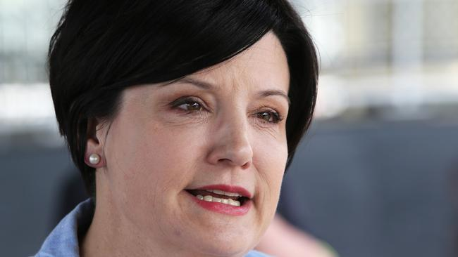 Shadow Minister for Transport Jodi McKay says public transport is more important than toll roads. Picture: Peter Lorimer.