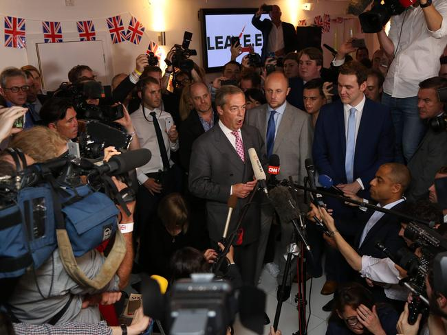 UK Independence Party leader and Leave campaigner Nigel Farage's hopes are rising.