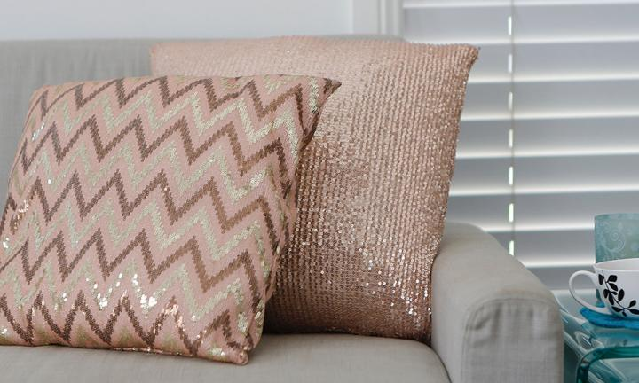 How to make a sequin cushion