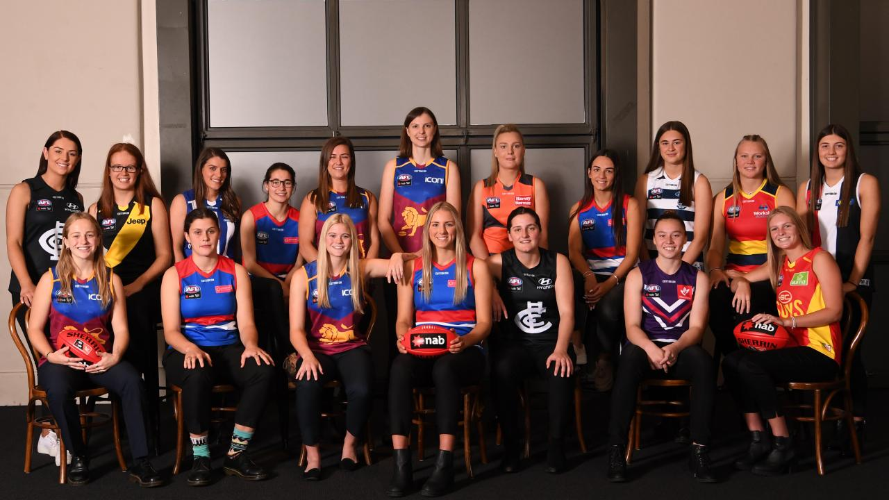 Round One selections in the the 2019 NAB AFL Womens Draft. Photo: Julian Smith