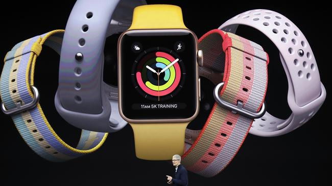 The new Apple Watch. Picture: AP Photo/Marcio Jose Sanchez