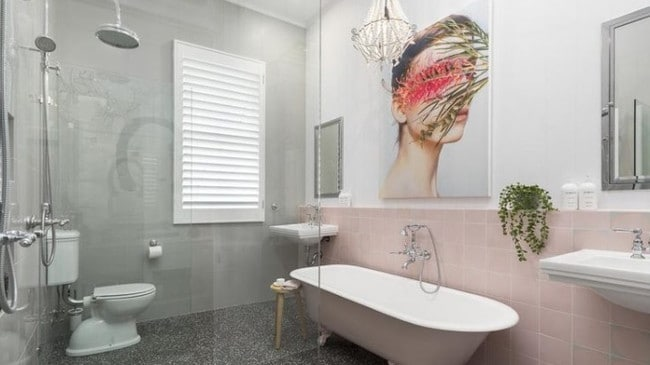 This was the new bathroom after Mr Whitaker was done gutting the home. Picture: Foxtel