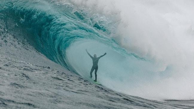 GoPro athlete Mark Mathews surfs Shipstern Bluff