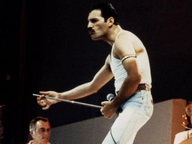 Freddie Mercury, pictured performing at Wembley Stadium for the Live Aid concert in 1985. Picture: Universal Pictorial