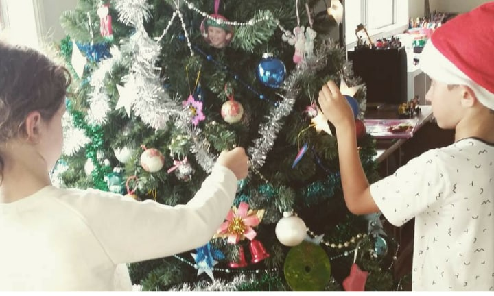 'My Christmas tree has evolved with my children and it is perfect'