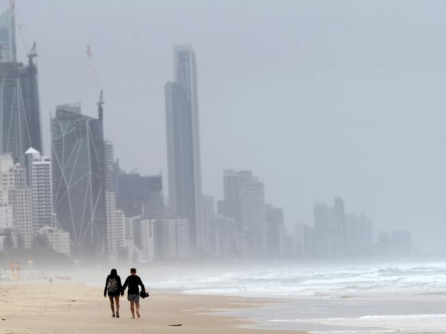 Wild weather on the Gold Coast. Picture: Nigel Hallett