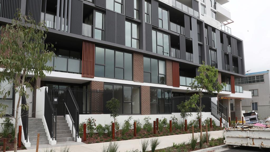 The finished Kogarah apartment building. Picture: Richard Dobson