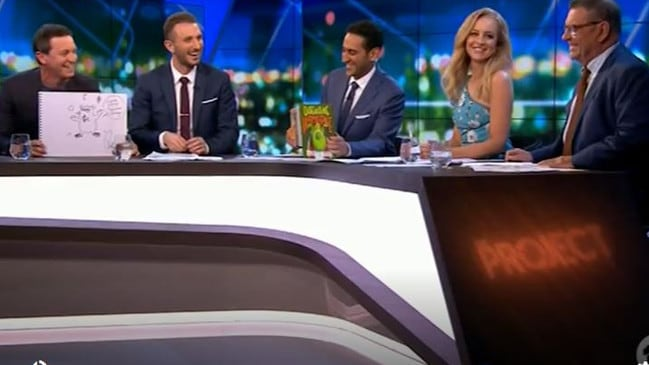 The sledges were being fired across the panel tonight. Picture: The Sunday Project