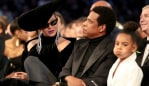 Blue Ivy is not coping with her parents' PDA. Photo: Getty