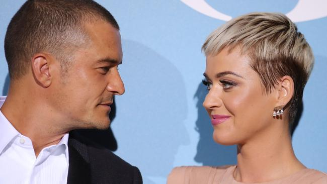 Katy Perry and Orlando Bloom are expecting their first child together. Picture: Getty.