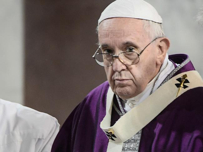 "Pope Francis was ""deeply saddened"" to learn of the massacre. Picture: AFP"