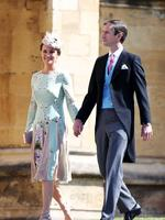 Pippa Middleton and James Matthews arrive at the wedding of Prince Harry to Ms Meghan Markle at St George's Chapel, Windsor Castle on May 19, 2018 in Windsor, England. Credit: Chris Jackson/Getty Images