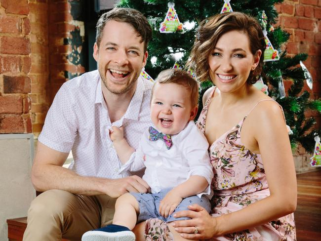 Zoe Foster Blake with husband Hamish Blake and the couple's adorable son Sonny.