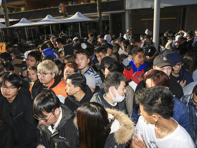 Fashion lovers were reportedly turned away after waiting in the queue through the cold night, after just a few customers got what they wanted. Picture: Dylan Robinson