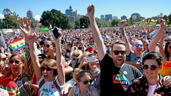 Same Sex Marriage Supporters Have Been Celebrating Across Sydney Picture Toby Zerna