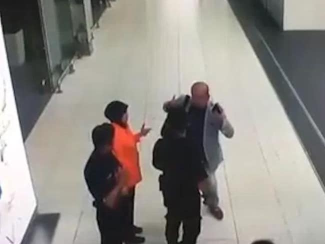 Kim Jong Nam explains to airport staff and police what happened. Picture: Supplied