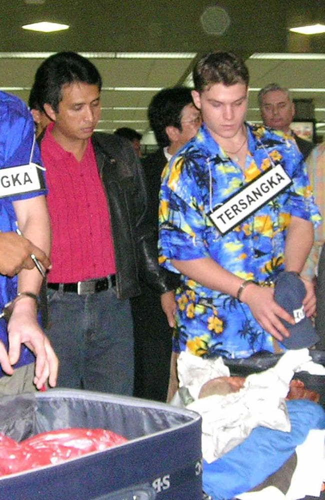 Scott Rush re-enacts the heroin smuggling plot at Denpasar airport two months after his arrest.