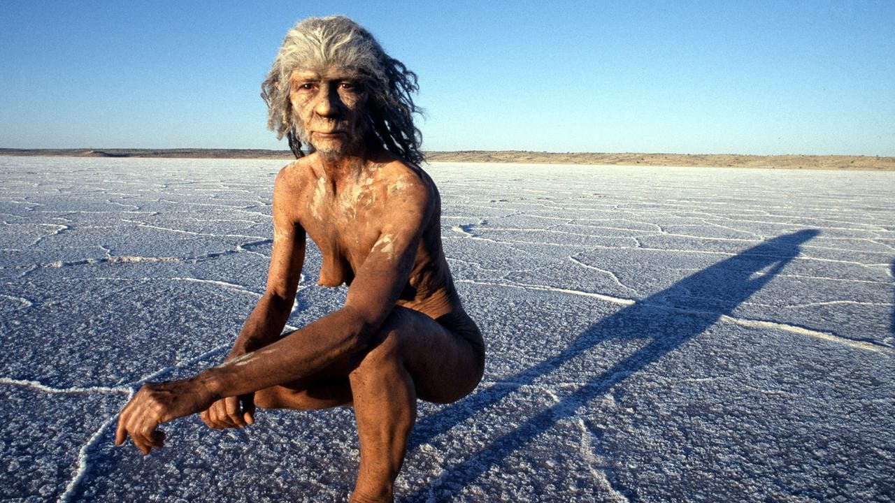 """There were several species of hominids that lived at the same time. Picture: from BBC series """"Walking with Cavemen"""""""