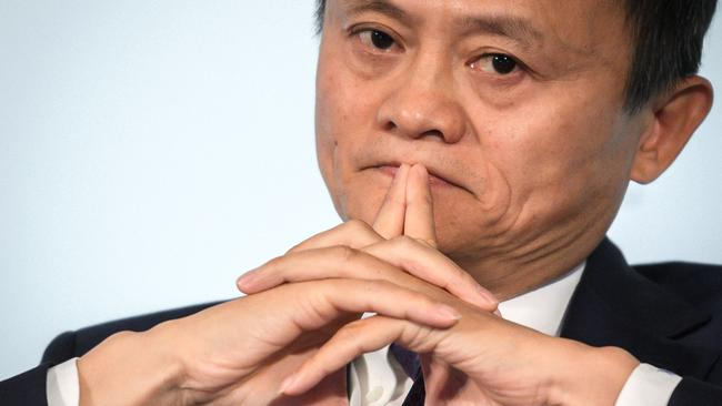Alibaba Group co-founder and executive chairman Jack Ma has mysteriously disappeared. Picture: Fabrice Coffrini/ AFP