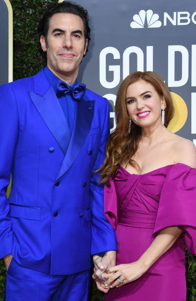 Sacha Baron Cohen and Isla Fisher moved to Sydney late last year. Picture: AFP.