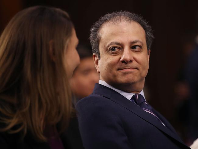 Preet Bharara attending the US Senate Intelligence Committee meeting where former FBI Director James Comey testified. Picture: Drew Angerer/Getty Images/AFP