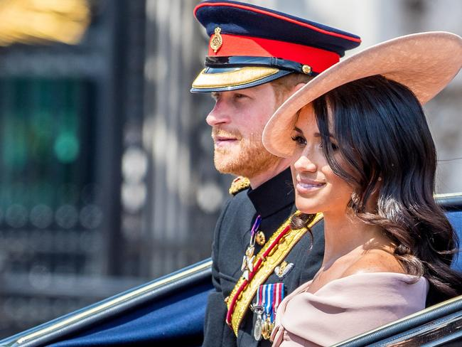 Meghan Markle has a new stylist … and it's Prince Harry. Picture: MEGA TheMegaAgency.com