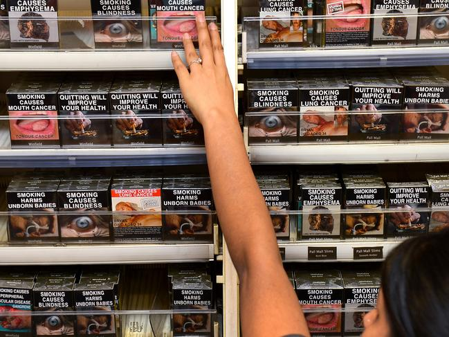 There is a call for the packs to be updated with new health warnings. Picture: William West/AFP