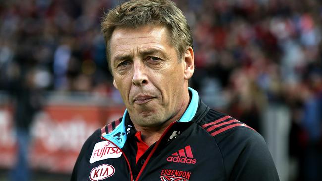 Essendon coach Mark Thompson hopes Bombers players make the right decisions. Picture: Wayne Ludbey