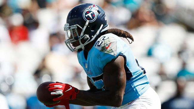 Tennessee's Derrick Henry has rushed for just 63 yards this season. Wesley Hitt/Getty Images/AFP