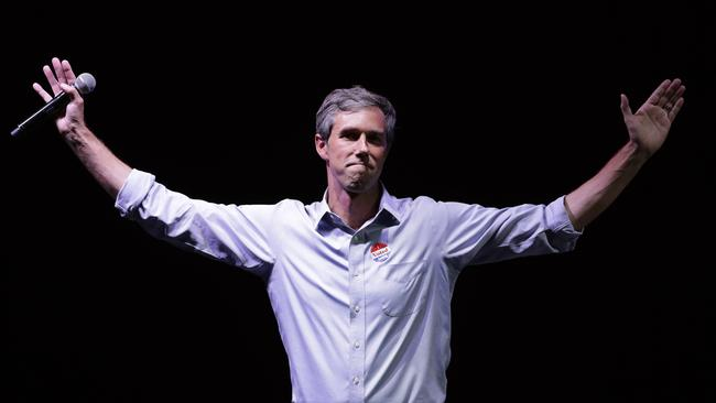 Beto O'Rourke came close to winning Texas. Picture: Eric Gay/AP