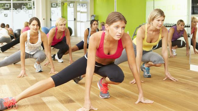 Fighting the flab... Australians are spending more on going to the gym thank you might think.