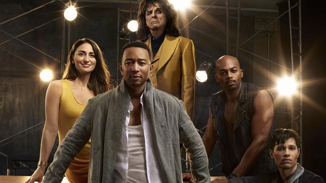 John Legend as Jesus Christ, Sara Bareilles as Mary Magdalene, Alice Cooper as King Herod, Brandon Victor Dixon as Judas Iscariot and Jason Tam as Peter from the NBC production, Jesus Christ Superstar Live In Concert.