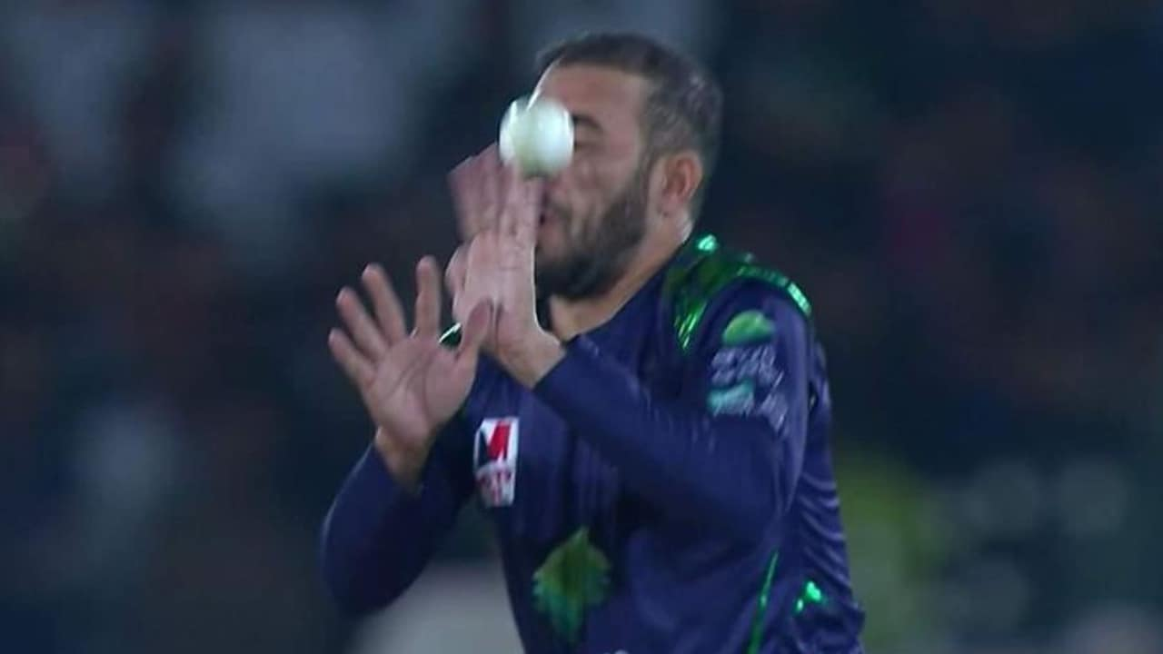 Fawad Ahmed was struck in the face during a PSL match between Quetta and Peshawar