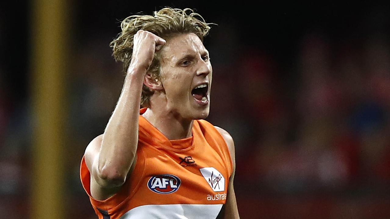 Lachie Whitfield of the Giants averaged career-high numbers in 2019. Picture: Ryan Pierse
