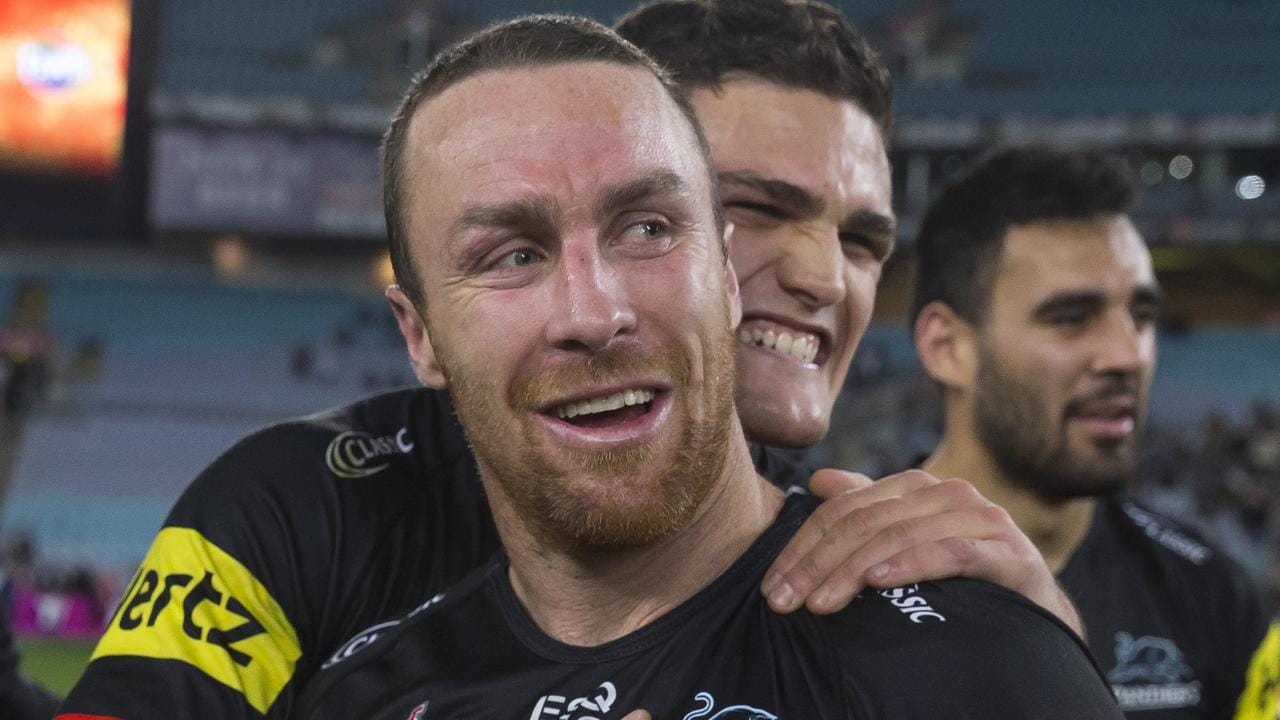 Nathan Cleary and James Maloney helped the Panthers to a first week finals win over the Warriors in 2018.