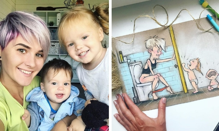 Mum-of-two hilariously illustrates typical 'mum life'