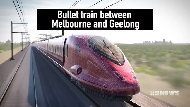 Bullet train between Melbourne and Geelong