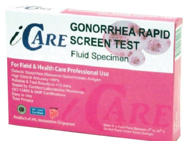 The iCare Sexual Health Multi-Test pack.