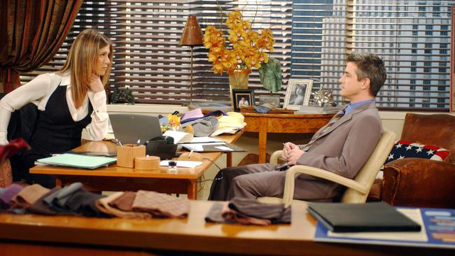 Jennifer Aniston and Dermot Mulroney in 'The One Where Rachel Goes Back To Work'.