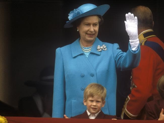 Queen Elizabeth II and Prince Harry in 1988. Picture: John Shelley Collection/Avalon/Getty Images